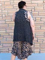Crocheted Light Layering Vest in Grey