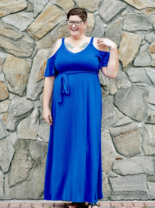 Graceful Beauty Dress in Royal Blue