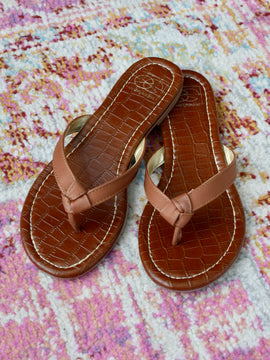 Gigi Tie Me Up Sandals in Tan
