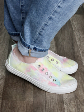Gypsy Jazz Play Along Slip On in Pastel Tie Dye