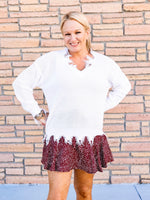 Perfect Polka Dot Skort in Wine