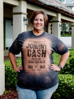 Johnny Cash Vintage Bleached Graphic Tee