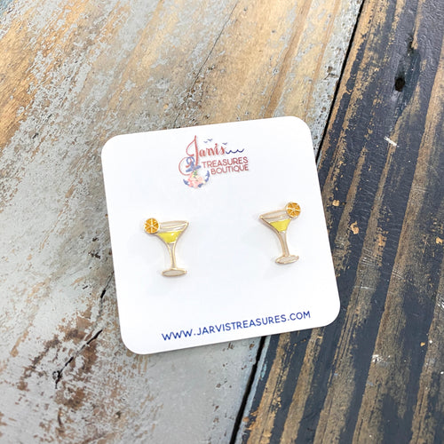 Tropical Martini Stud Earrings