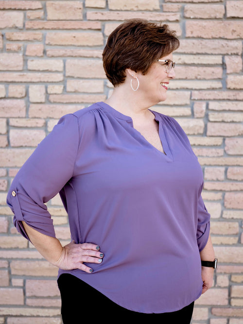 Lilac Wool Dobby Phyllis Blouse