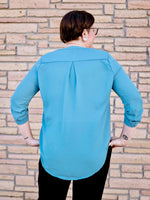 Teal Wool Dobby Phyllis Blouse