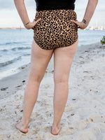 Leopard High Rise Ruched Bottoms