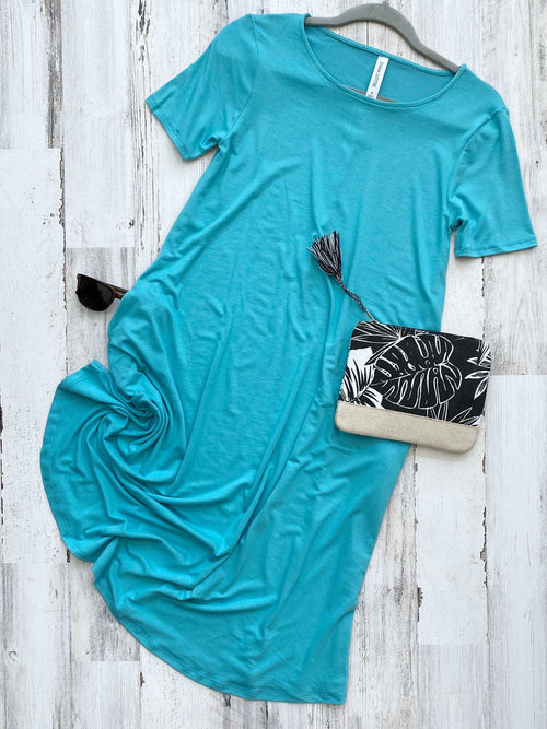 Swinging in Mint Solid Pocket Dress