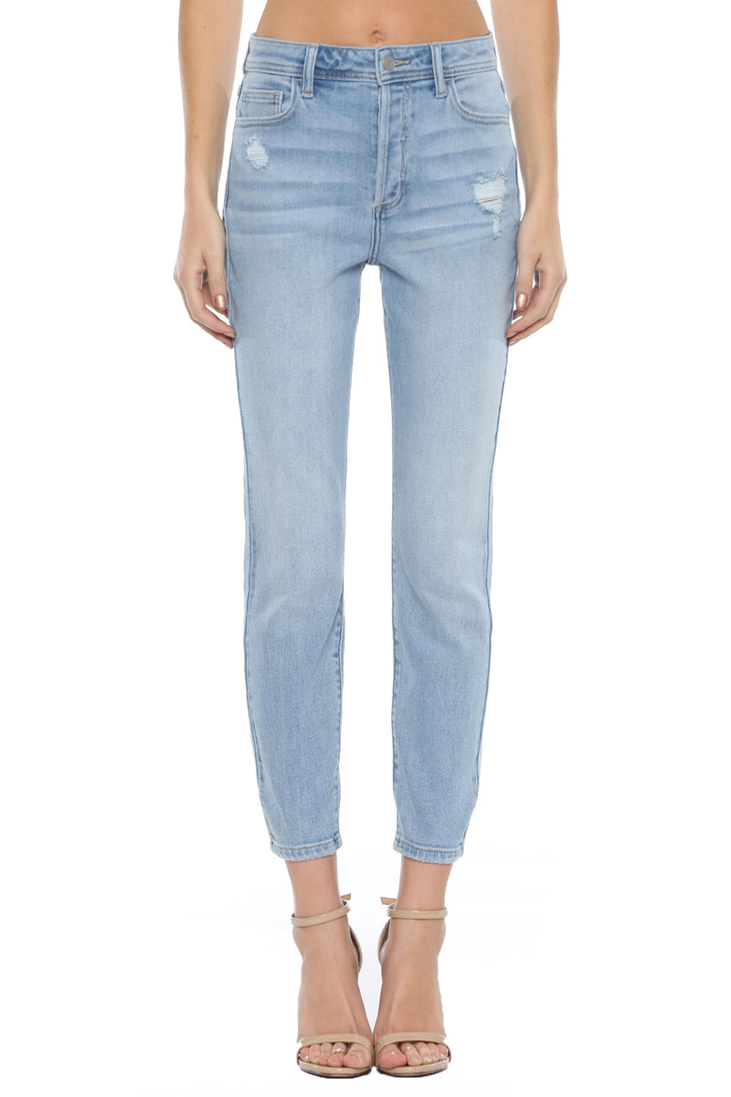 Cello Button Fly Mom Skinny Jeans