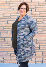 Camouflage Slouchy Pocket Duster Cardigan