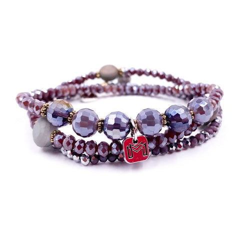 Enchanted Glass Stone Bracelet Set