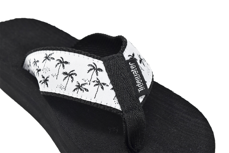 Tidewater Palm Tree Flip Flops
