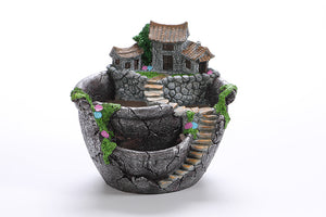 Multi-tiered European Landscape Flower Pot