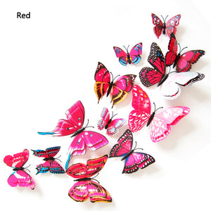3D Butterfly Cluster Wall Sticker