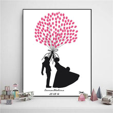 Lover Wedding Fingerprint Painting