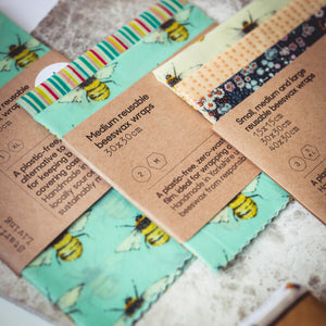 Handmade natural beeswax wraps