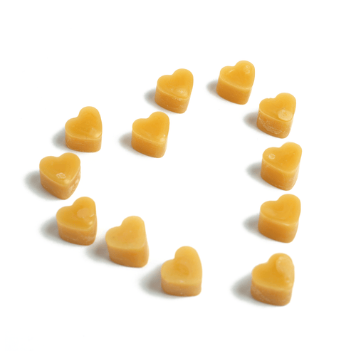 Mini heart pure beeswax melts