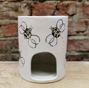Hand painted bee wax burner