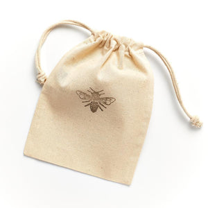 Fairtrade cotton wash bag with bee