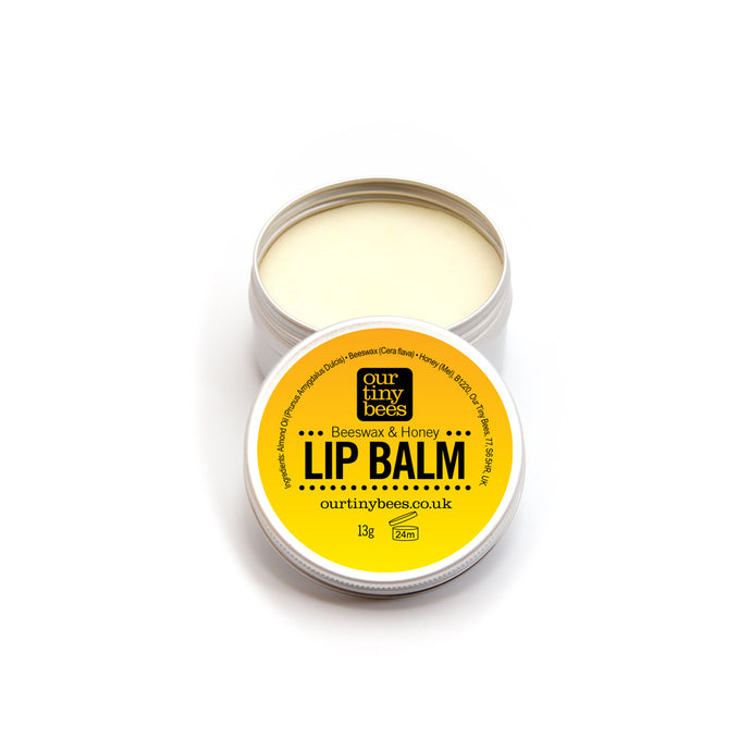 Beeswax and honey lip balm