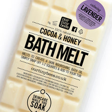Load image into Gallery viewer, Honey, cocoa and coconut bath melt