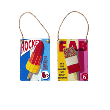 Load image into Gallery viewer, Vintage rocket and fab ice lolly advert