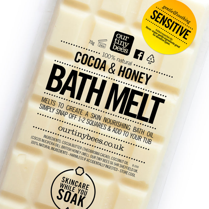 Honey, cocoa and coconut bath melt