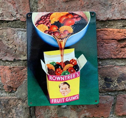 Rowntree's vintage advert metal sign
