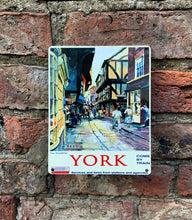 Load image into Gallery viewer, York Shambles vintage style advert metal sign