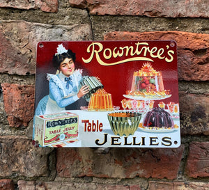 Rowntree's vintage adverts - small metal signs (two designs)