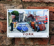 Load image into Gallery viewer, York vintage style advert metal sign