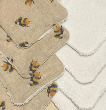 Load image into Gallery viewer, Reusable face pads with bee print