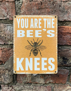Bees knees metal sign