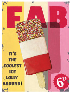 Vintage Fab ice lolly advert