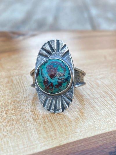 Chrysocolla 'Ariel' ring