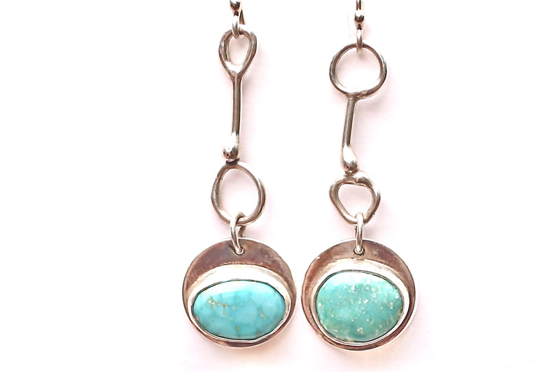 Mix matched turquoise drop earrings