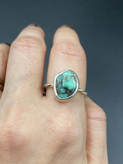 New lander turquoise ring- size 6.25