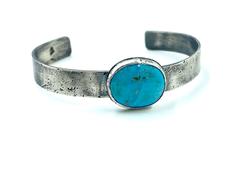 Vibrant natural turquoise cuff