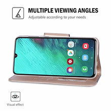 Load image into Gallery viewer, ProCase Galaxy A70 Wallet Case 2019, Flip Fold Kickstand Case with Card Holders Mirror Wristlet, Folding Stand Protective Book Case Cover for Galaxy A70 2019 Release -Black - Redpepper Cases
