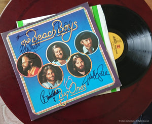 The Beach Boys - Autographed '15 Big Ones' LP - COA #BB58767