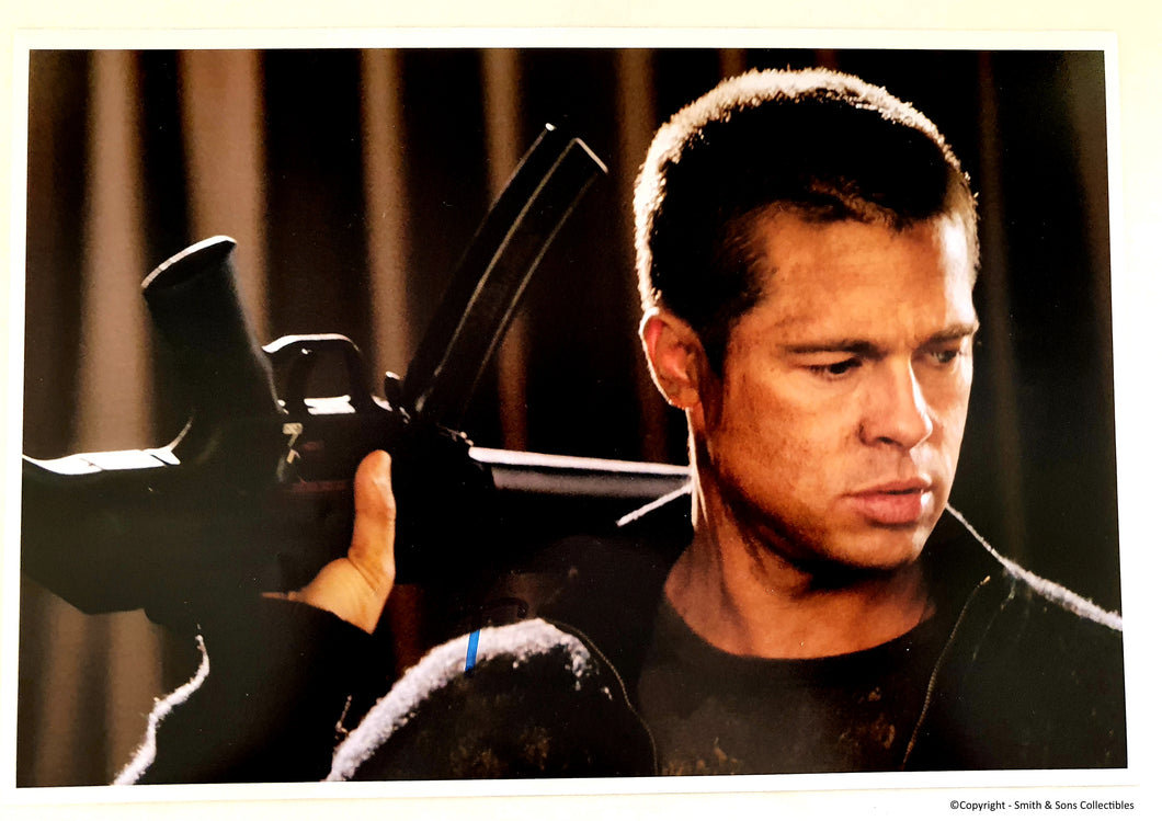 Brad Pitt Autographed Color 8x10 Photo - COA #BP58887