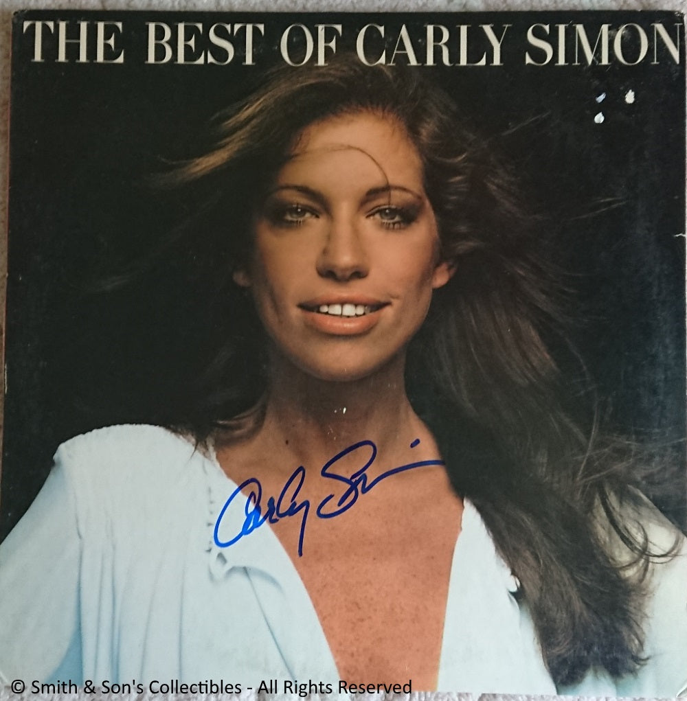 Carly Simon Autographed Album