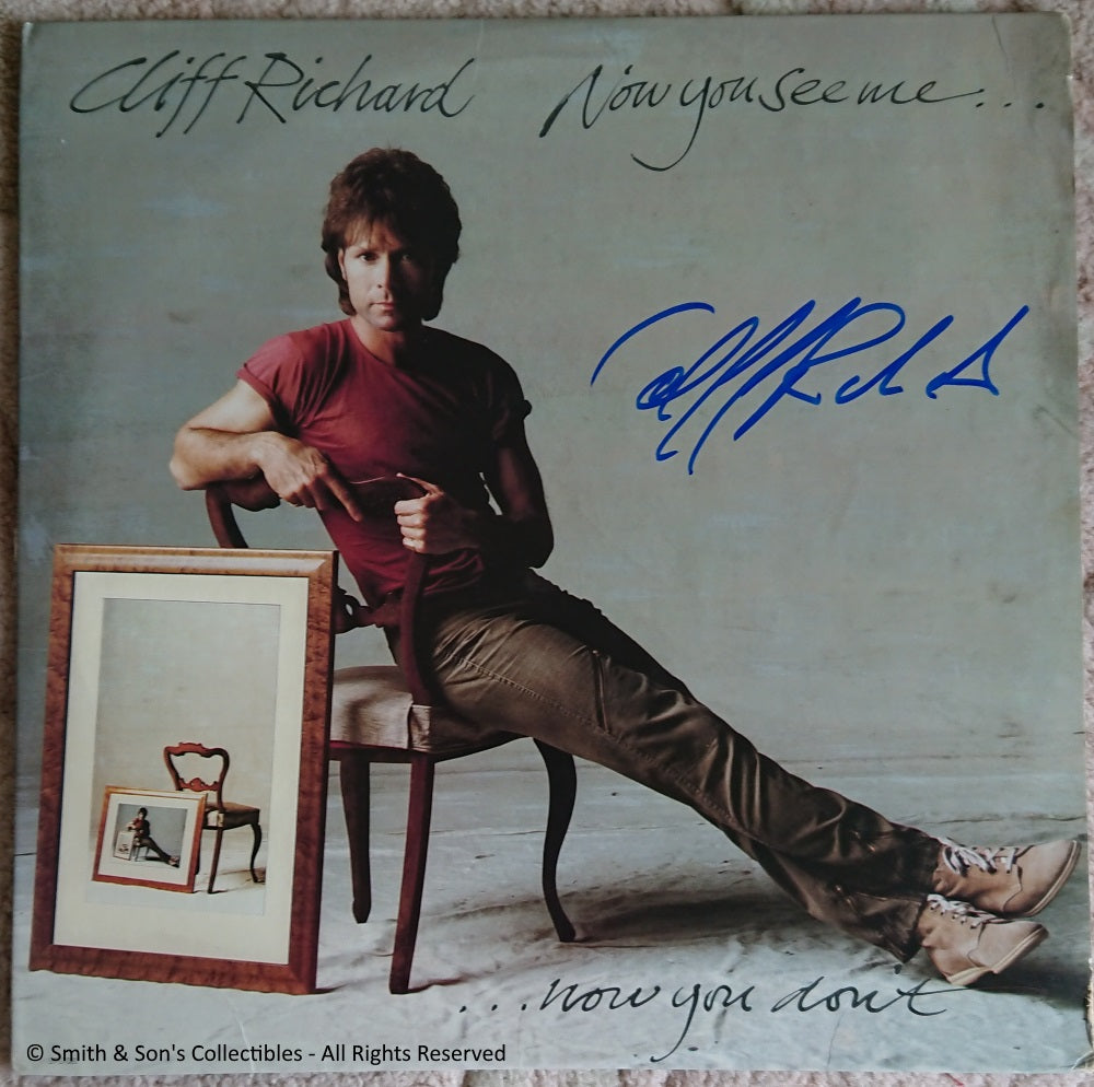 Cliff Richard Autographed Now You See Me
