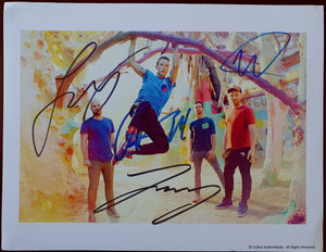 Coldplay Band Autographed Color 8x10 Photo COA #CP48987