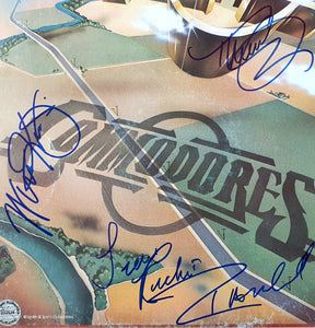 Commodores Autographed Album COA #TC85697