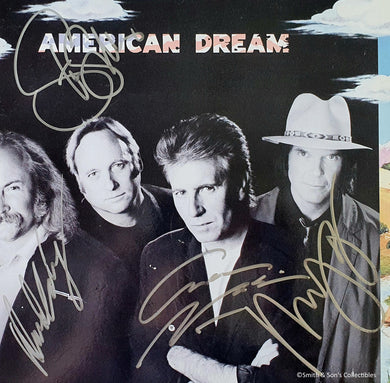 Crosby, Stills, Nash & Young all 4 Autographed American Dream Album COA #GY98674