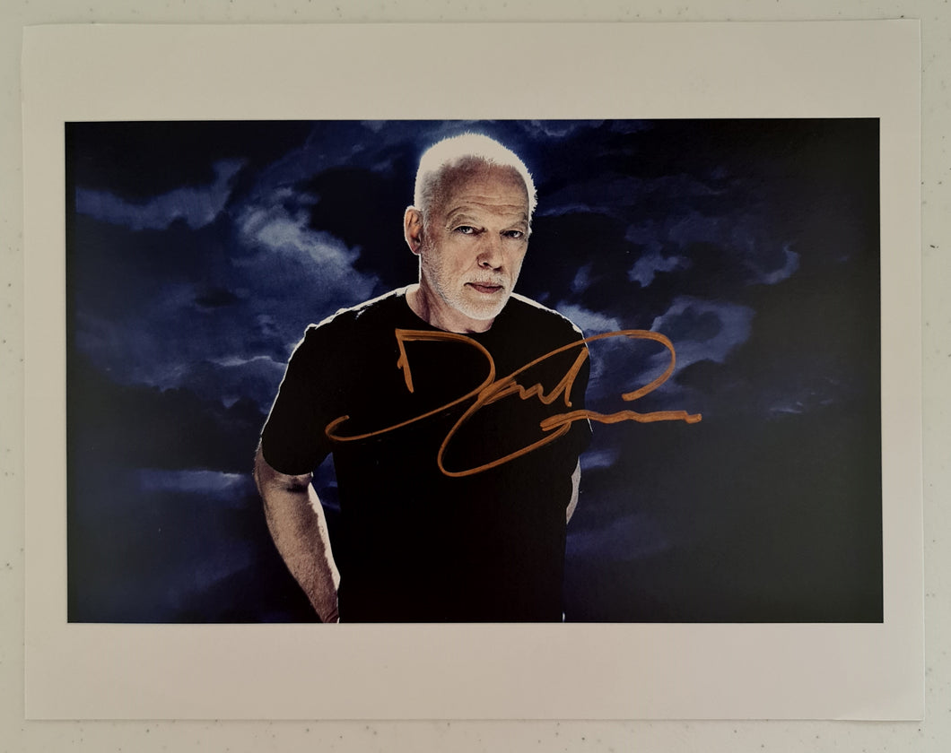 David Gilmour Autographed 8x10 Photo COA #DG77796
