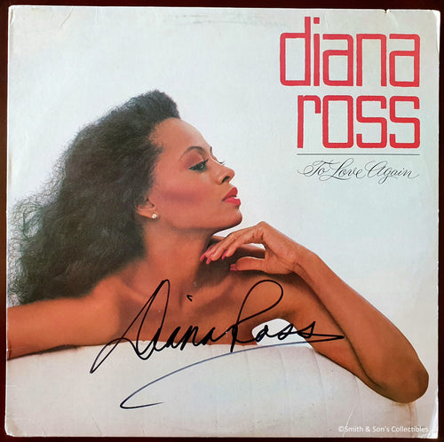 Diana Ross Autographed To Love Again Album COA #DR36357