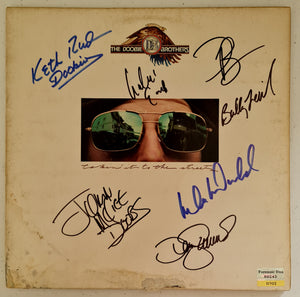 Dooby Brothers 'Takin it to the Streets' Autographed LP COA #DB22874
