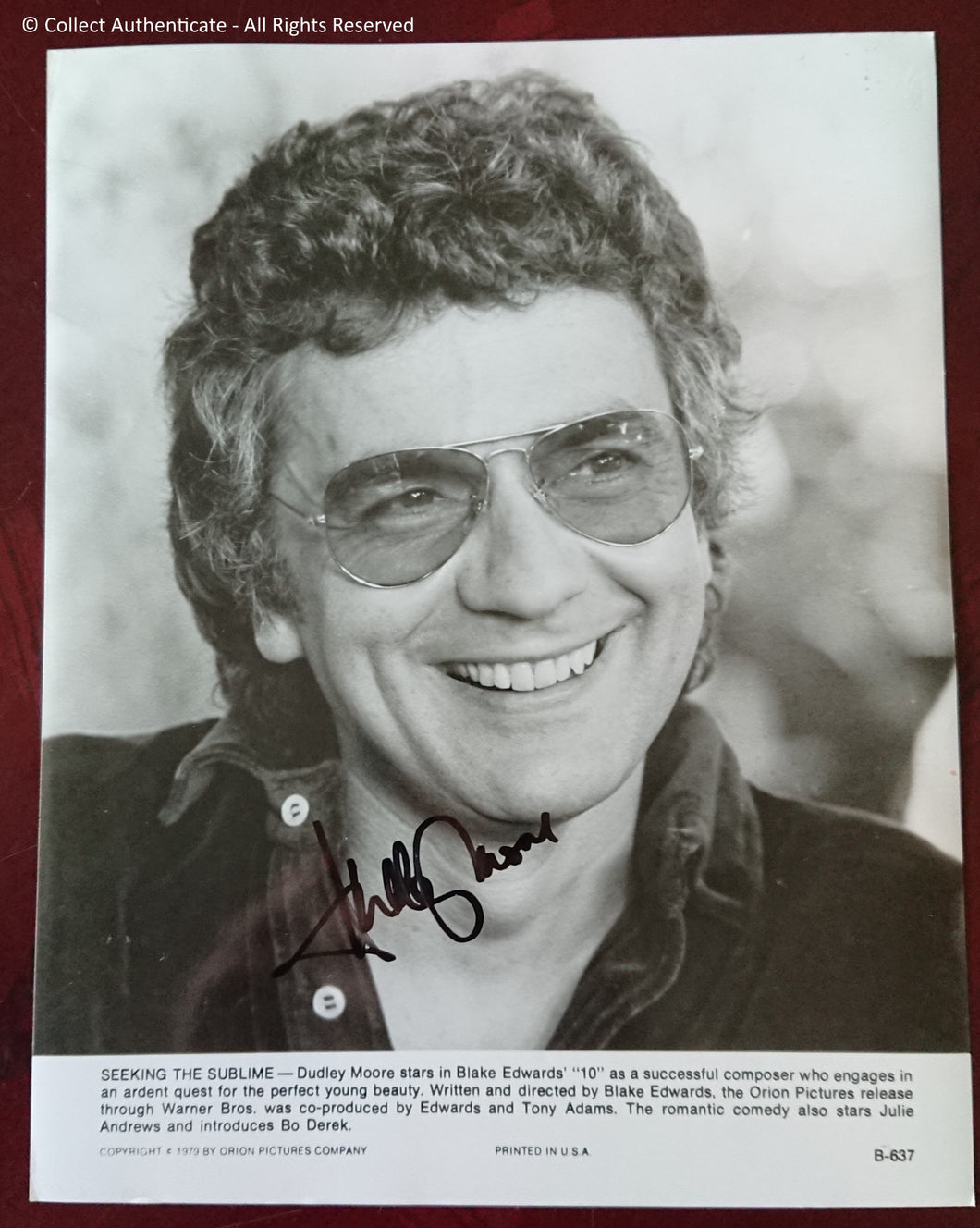Dudley Moore Autographed Glossy