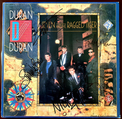 Duran Duran Band Autographed Seven and the Ragged Tiger Album COA #DD54587
